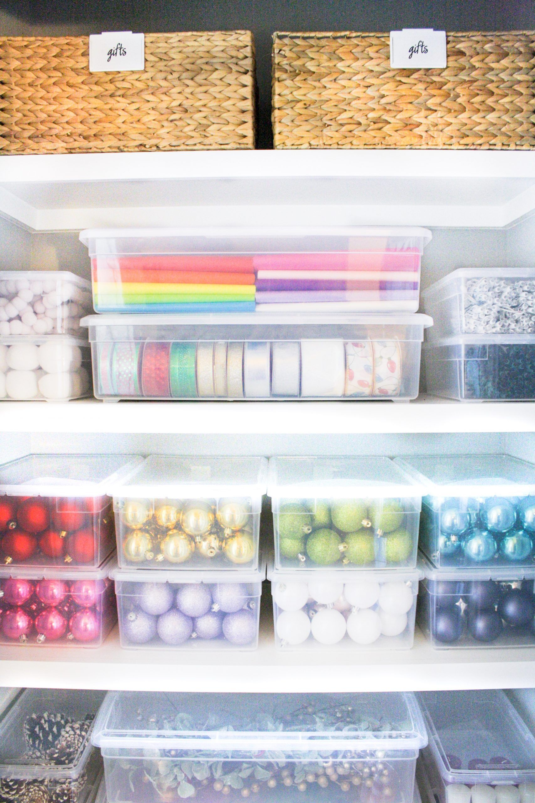 How to Organize a Gifting Closet - The Home Edit -   19 the home edit organization closet ideas