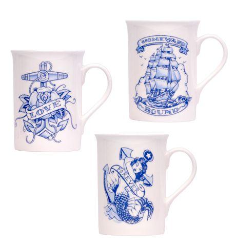 Vince Ray China Mug Set