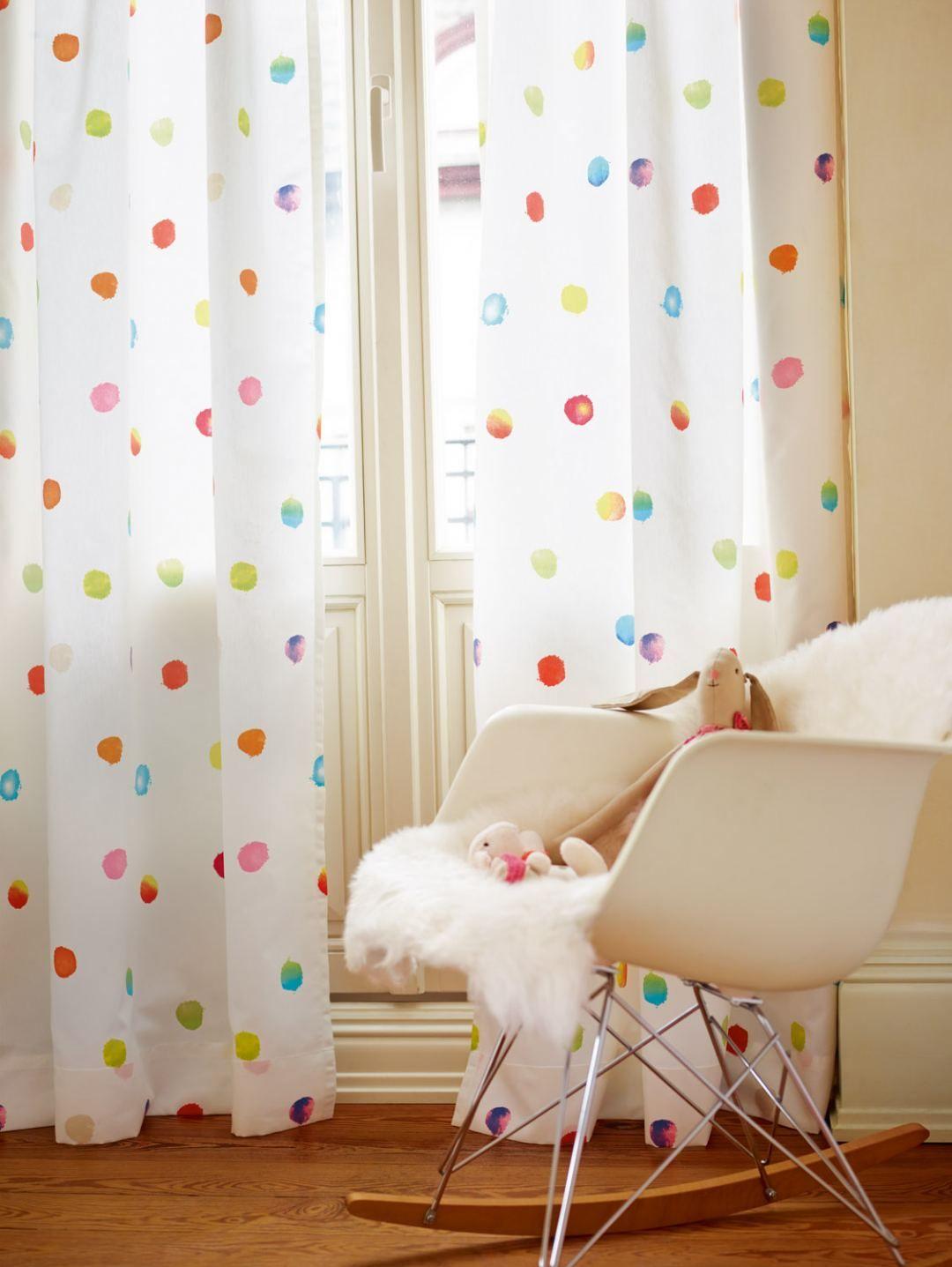 Wit / Multicolor Gordijn Paintball | In.4181-07 Paintball ...