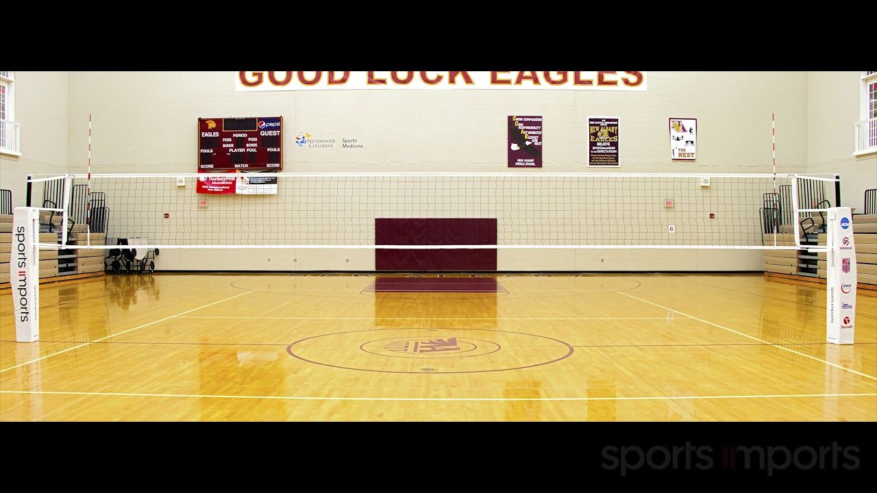 How To Check Volleyball Net Height With A Chain Sports Imports Volleyball Net Height Volleyball Equipment Volleyball Net
