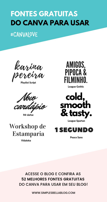 52 melhores fontes gratuitas do Canva para usar em seu blog is part of Typography, Typography fonts, Text effects, Visual identity, Texts, Instagram - timas fontes são essenciais para criar um bom design e transmitir nossa mensagem  Confira as 52 fontes gratuitas do Canva para usar nas imagens do seu blog