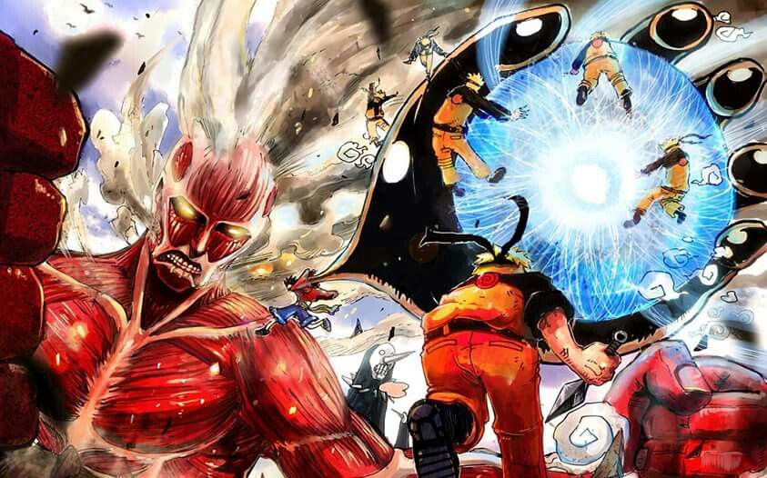 Attack on Titan, Naruto and  One Piece