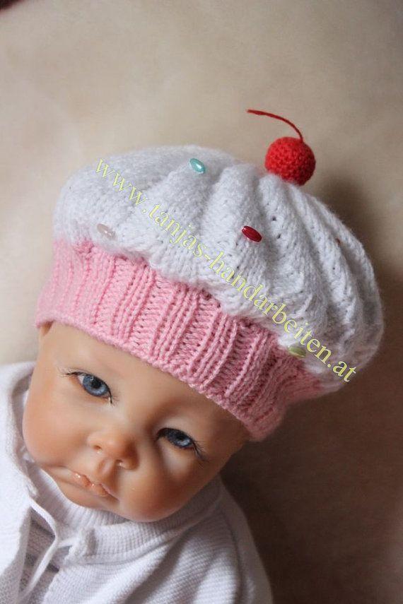 Baby Cupcake Hat Pattern Free   Cupcake+Baby+Hat+Knitting ...