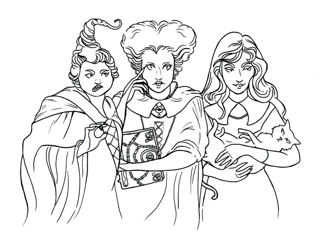 Hocus Pocus Line By Ghoulsandgals Disney Coloring Pages Halloween Coloring Pages Halloween Coloring