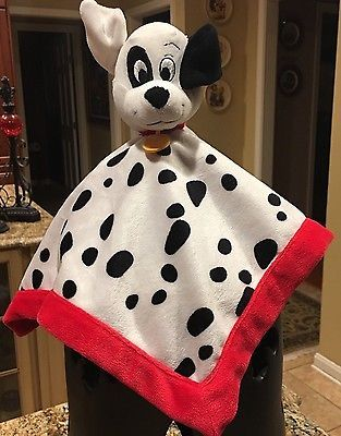 Disney Baby Security Blanket 101 Dalmatians White Black Red Lovey Red Black Dog Ebay With Images Baby Security Blanket Security Blanket Baby Disney