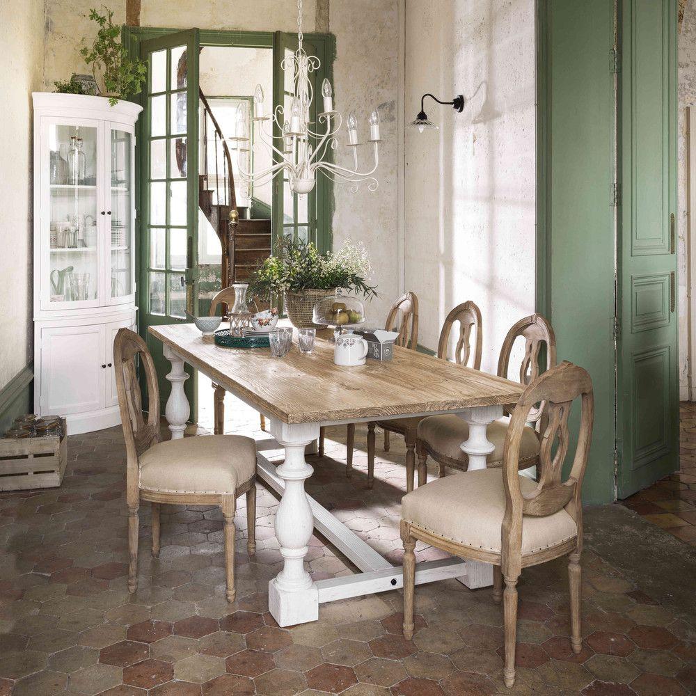 chaise m daillon en lin et ch ne massif maisons du monde inredning pinterest chaise. Black Bedroom Furniture Sets. Home Design Ideas
