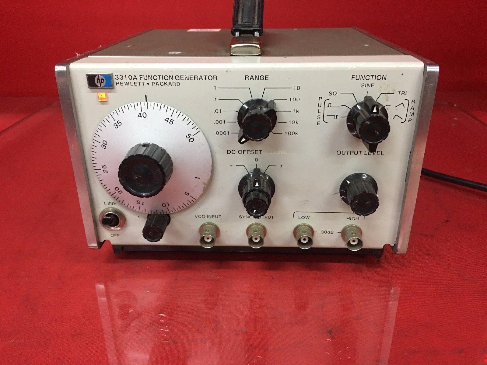 Hp Hewlett Packard 3310a Function Generator Powers On Audio Ebay