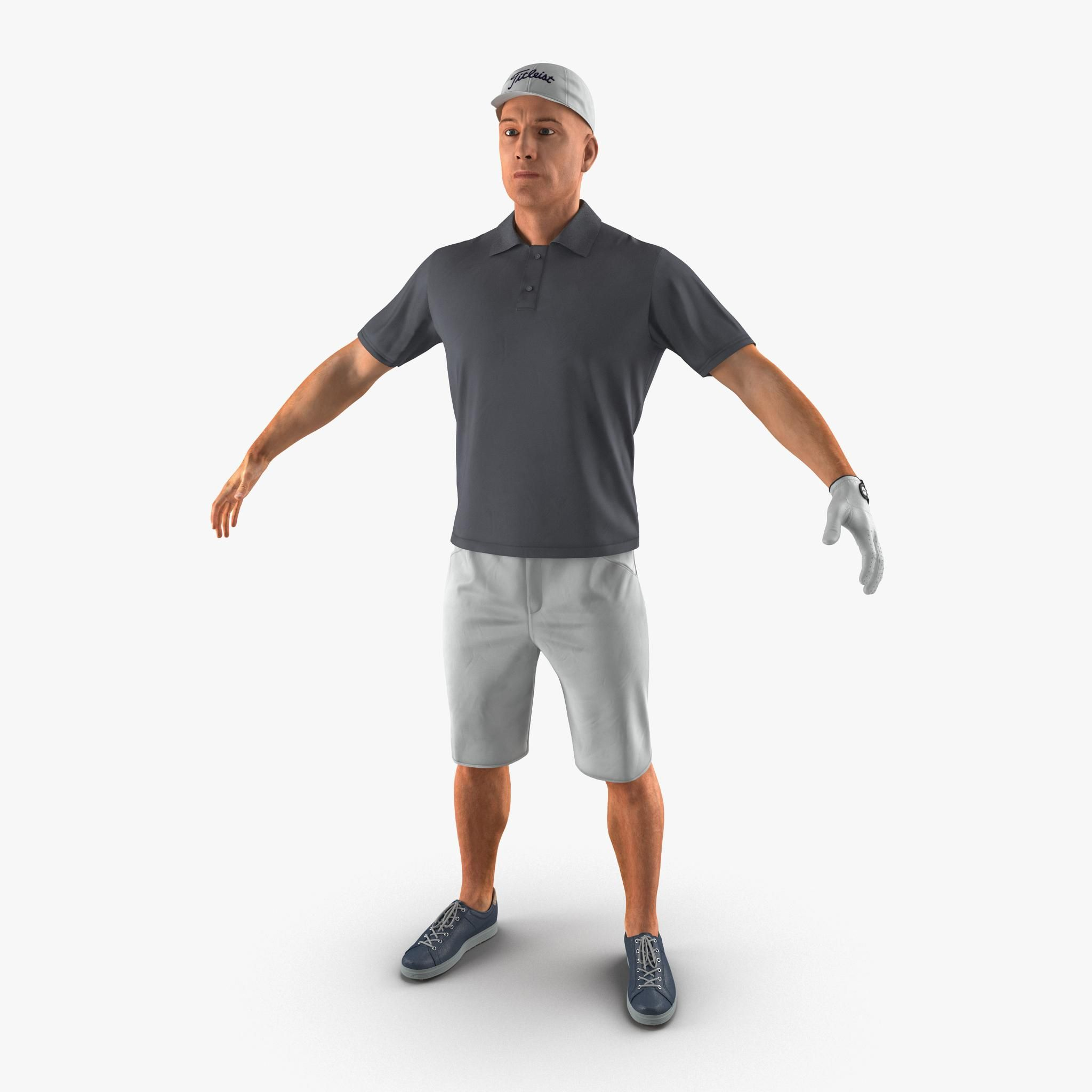 Golf Player 2 3D Model #AD ,#Golf#Player#Model