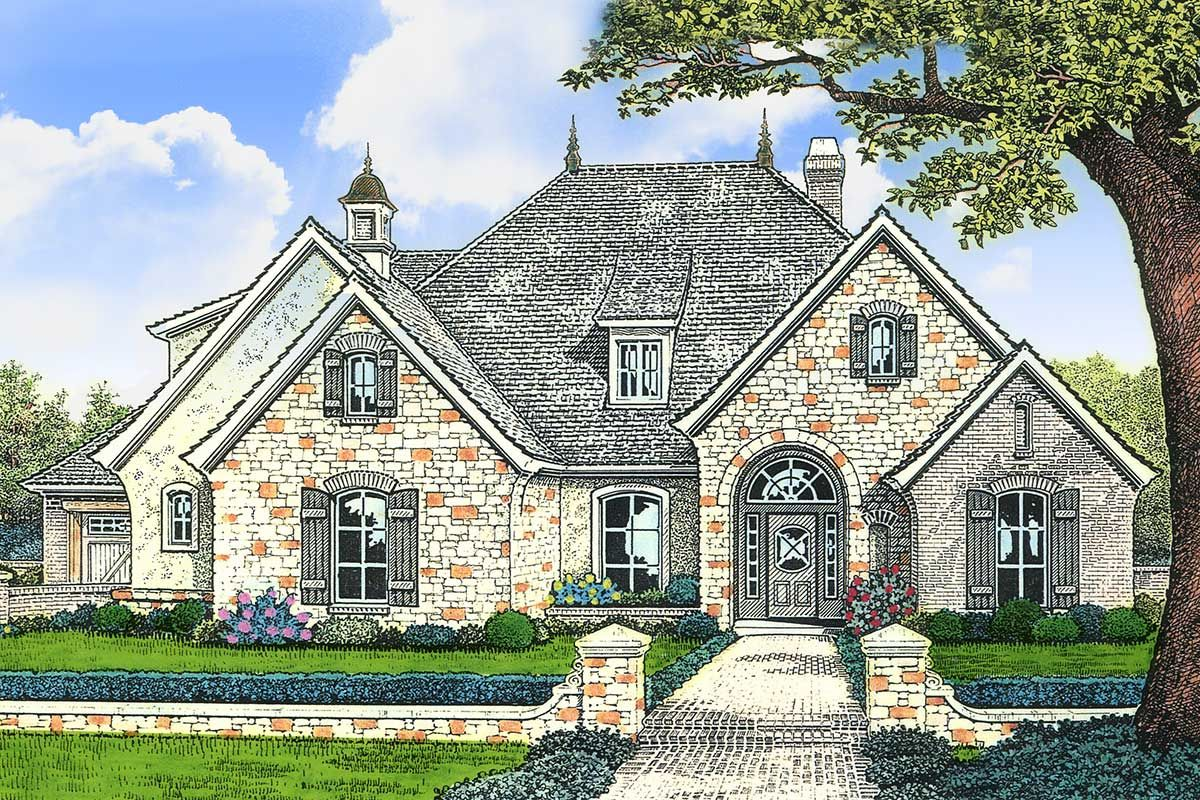 Plan 48101fm European Styling With Options French Country Exterior French Country House Plans French Country House
