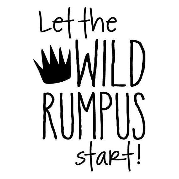 image regarding Let the Wild Rumpus Start Printable named Nursery Wall Quotation Decal Enable the Wild Rumpus Get started Whimsical