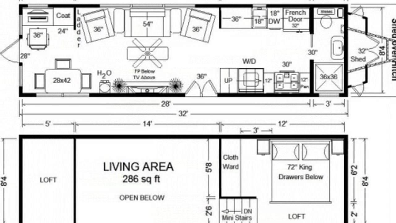 Tiny House Floor Plans 32 Long Tiny Home On Wheels Design Tiny House Floor Plans Tiny House Design Tiny House Trailer Plans