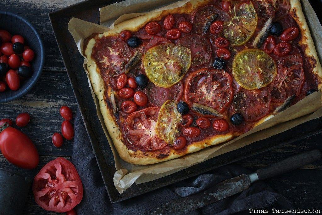 Sommerküche Tomaten : Tomaten pissaladière herzhafter tomatenkuchen aus dem ofen