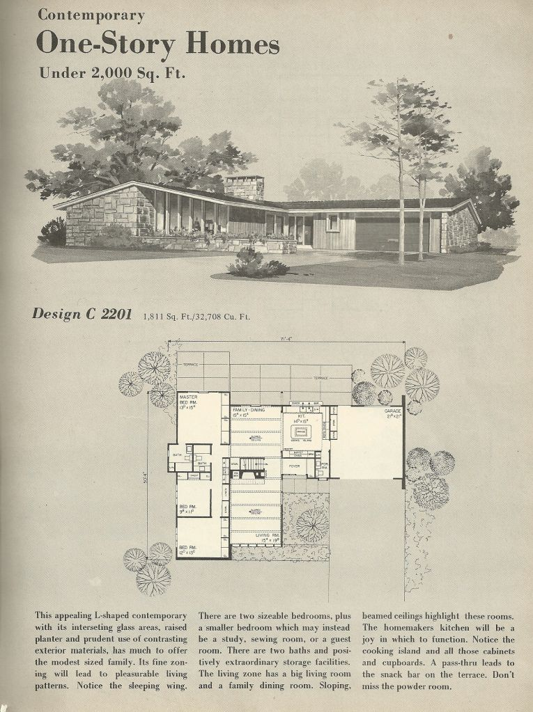 Vintage house plans 1960s homes mid century homes for Architektur 1960