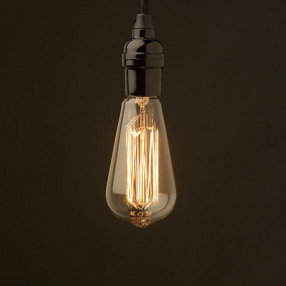 Edison Gluhlampen Industriebeleuchtung 40 Watt Lampe Alte Lampen Alte Lampen Gluhlampe Edison Lampe
