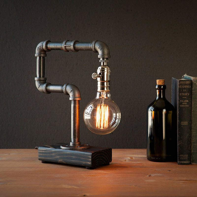 Edison Lamp Rustic Decor Unique Table Lamp Industrial: Home - Kozo Lamp Pipe Lamps Directory