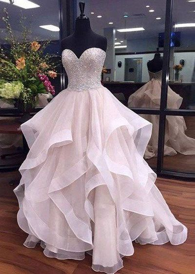 Sweetheart Prom Dress Long Princess Prom Dresses Party Gown