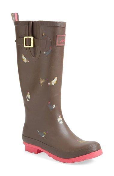 Joules Print Welly Rain Boot (Women) | Nordstrom