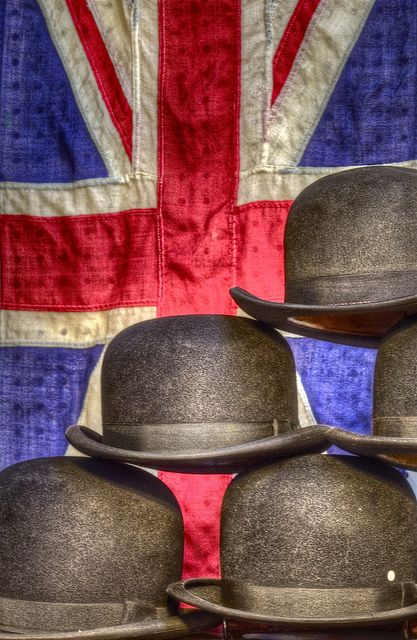 The union bowlers in Portobello Road Market, London