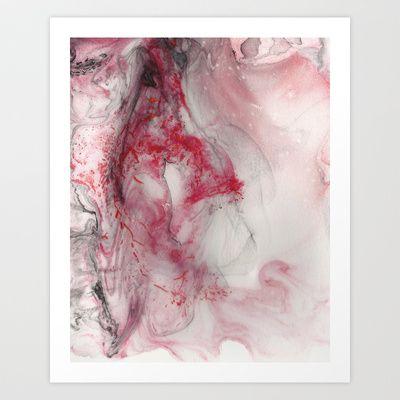 Ladybug Abstract Art Print by Jessica Ann Lane Taunton - $17.68