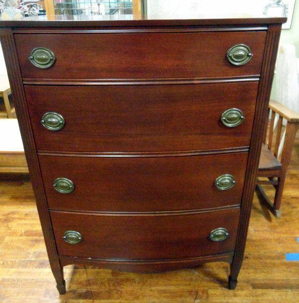 buy online 2f6b6 b740d Beautiful 1940's mahogany bow front dresser, Duncan Phyfe ...