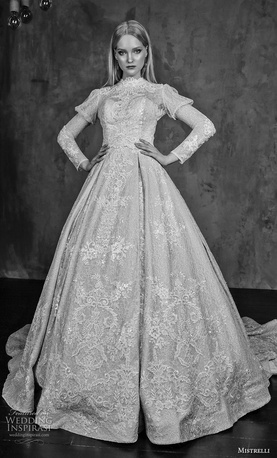Long sleeve black wedding dresses  Mistrelli  Wedding Dresses u ucModern Renaissanceud Bridal