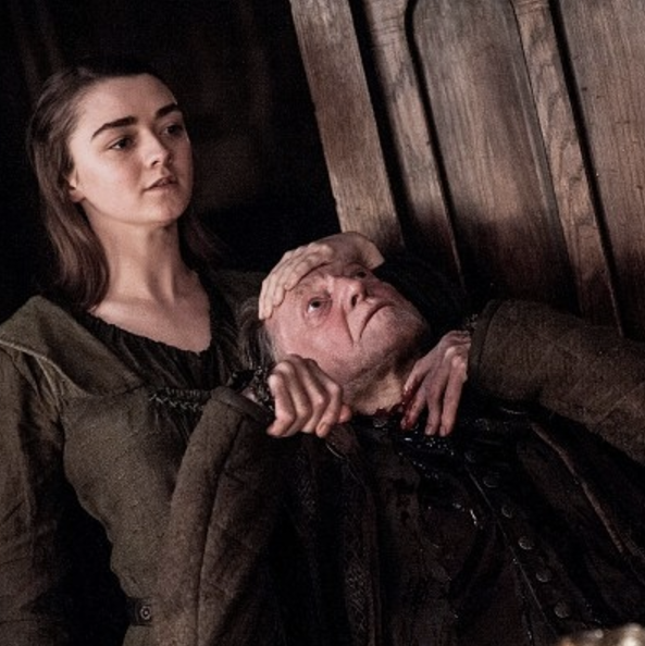 Here S What Maisie Williams Really Thought About Her Epic Game Of Thrones Opening Scene The Winds Of Winter Arya Stark Game Of Thrones Premiere