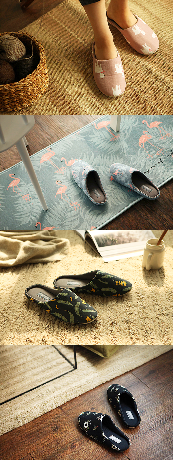 Cuteness and comfort for your feet! These Dailylike Indoor Pattern Slippers look great, matching your home decor and feng shui.