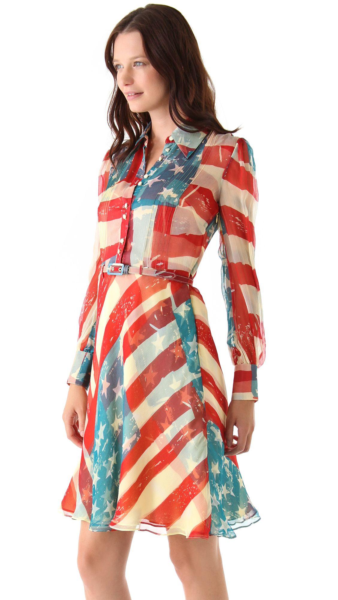 Catherine Malandrino Flag Dress Dresses Flag Dress Designer Outfits Woman