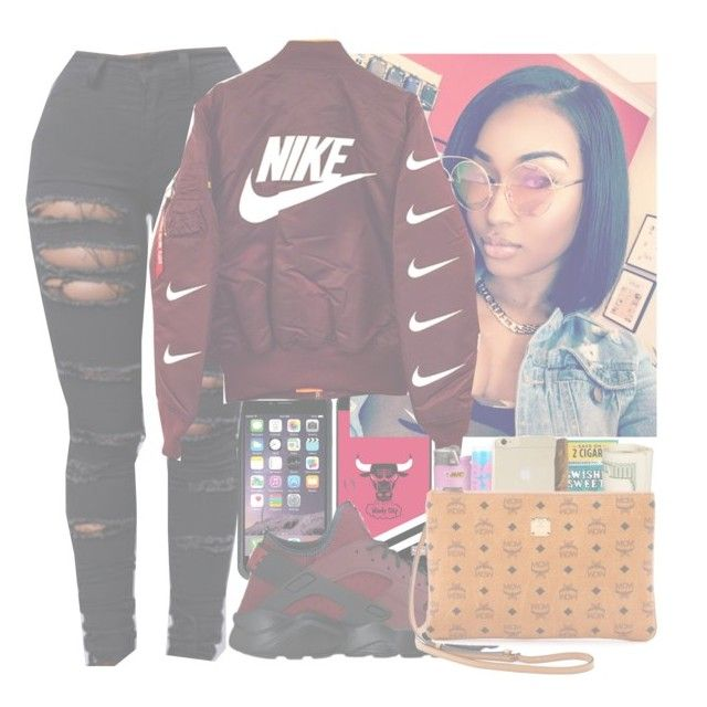 """""""Red that's my fav"""" by genevieve-an ❤ liked on Polyvore featuring Coveroo and NIKE"""