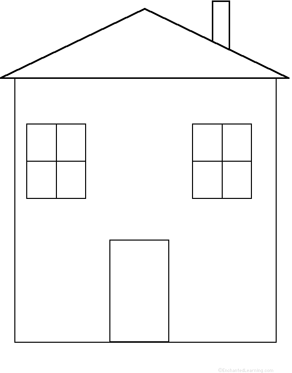 House Perimeter Poem Paper House Template House Template Shape Coloring Pages