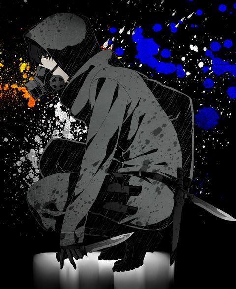 仮面でサバイブ ガスマスク男子特集 イラスト カワイイアニメ かわいいアニメの少年