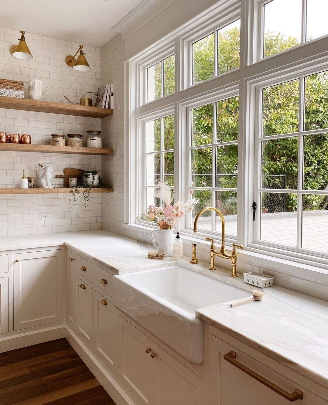 """Scout & Nimble on Instagram: """"This! Kitchen! 😍 We cannot get enough of the details in this gorgeous French Colonial revival kitchen from @jennymartindesign   What's…"""""""