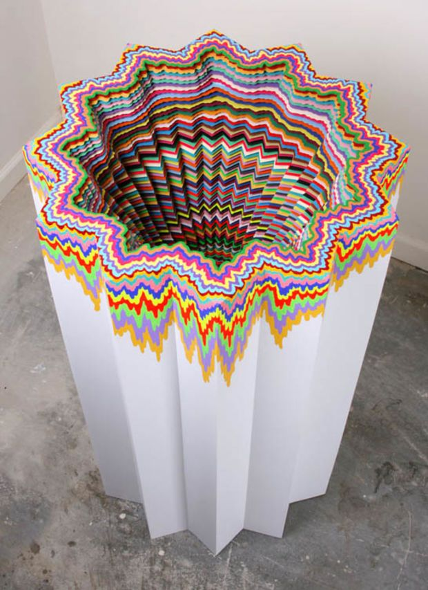 Mesmerising Hand Crafted Paper Sculptures By Jen Stark Jen Stark - Mesmerising hand crafted paper sculptures jen stark