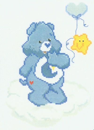Bedtime CareBear The Dreamer Counted Cross Stitch Kit for baby boy gift.