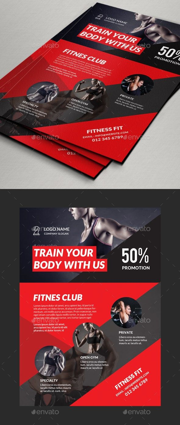 Fitness Gym Flyer #AD #Fitness, #AFF, #Gym, #Flyer