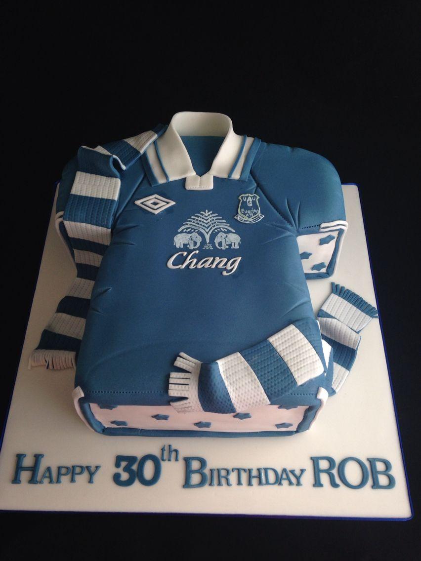 Everton football shirt cake Football cake ideas Pinterest