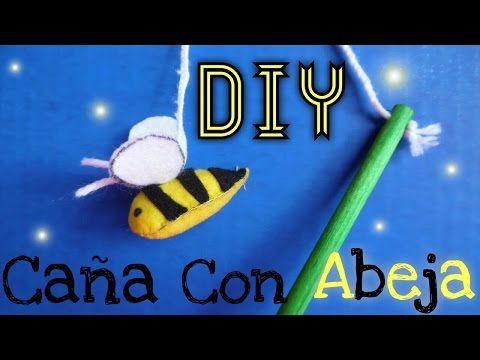 DIY Caña de Juguete con Abeja para Gatos - YouTube