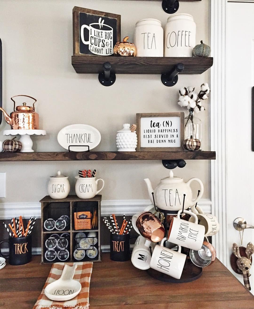 Beautiful Coffee Bar Display Coffee Bar Home Decor Halloween Coffee