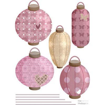De magnifiques lampions japonais dans les nuances de mauve for Objet deco mauve