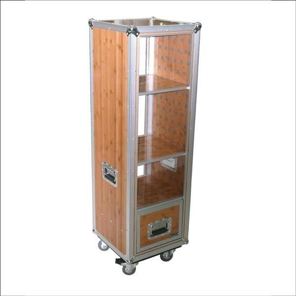 Shelf-Case Bamboo Regal-Flightcase aus Bambus