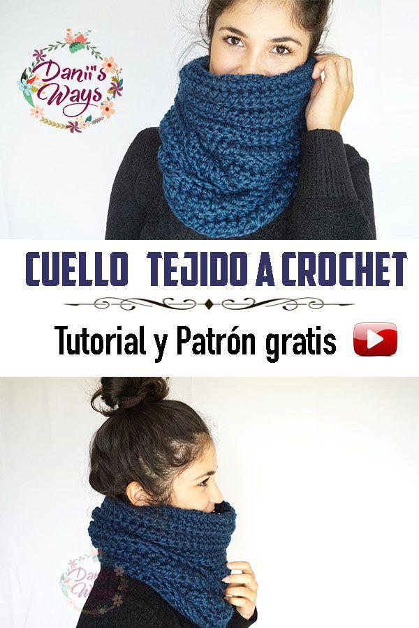 CUELLO SUPER FÁCIL TEJIDO CON DOS AGUJAS - TUTORIAL | Danii\'s Ways ...