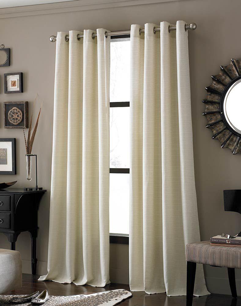 Ivory Lined panel grommet curtain....simple elegant and versatile ...