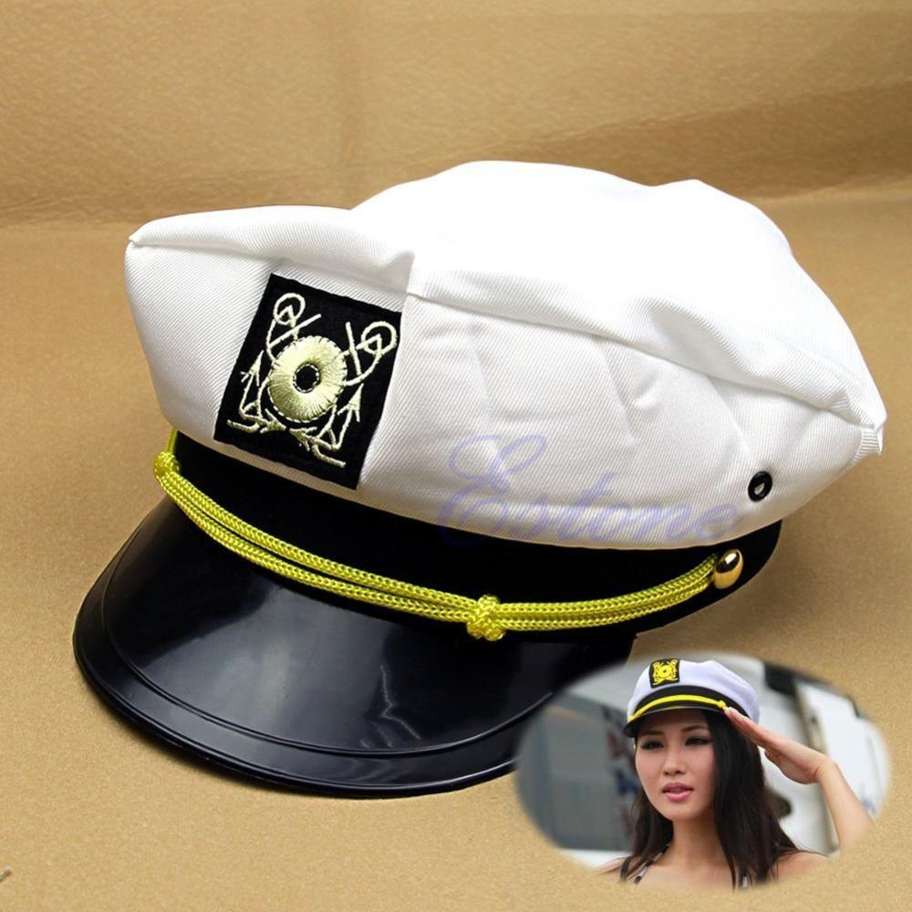 Adult Party Costume Yacht Captain Hat Skipper Sea Sailor Boat Ship Captain Cap