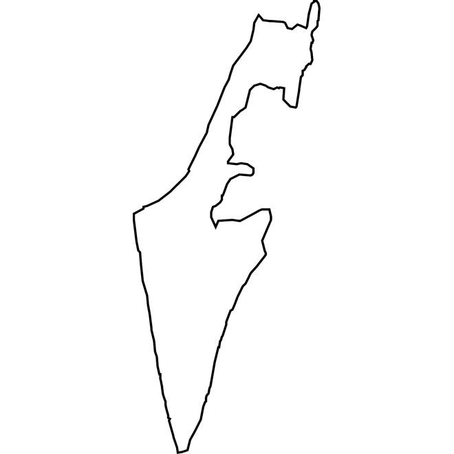 Israel map outline Latest
