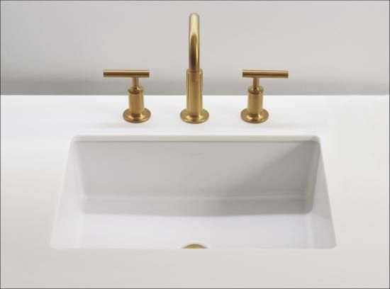 Kohler K 2882 0 White Verticyl 19 13 16 Rectangular Undermount Bathroom Sink With Vertical Sides And Overflow Undermount Bathroom Sink Sink Bathroom Sink