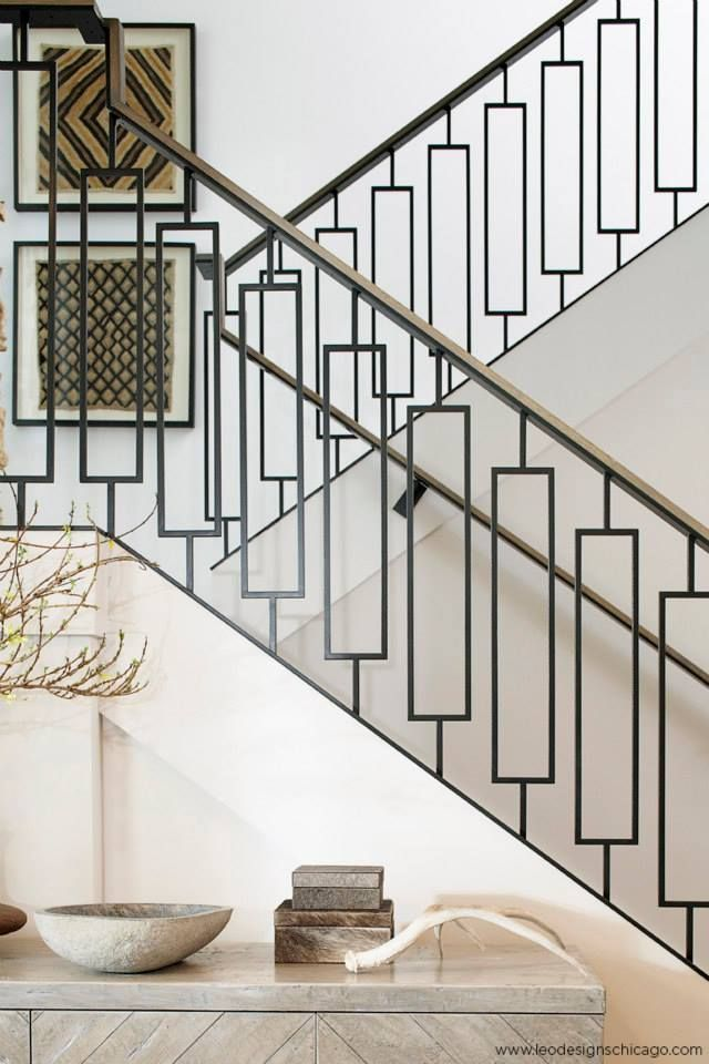 Tons Of Great Stair Rail Sources Geometric Staircase