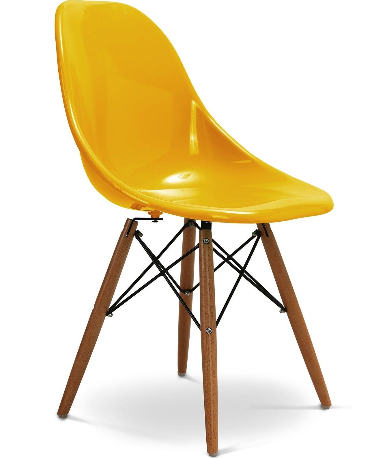 Chaise Jaune Design Eiffel SW Charles Eames Lot De 4