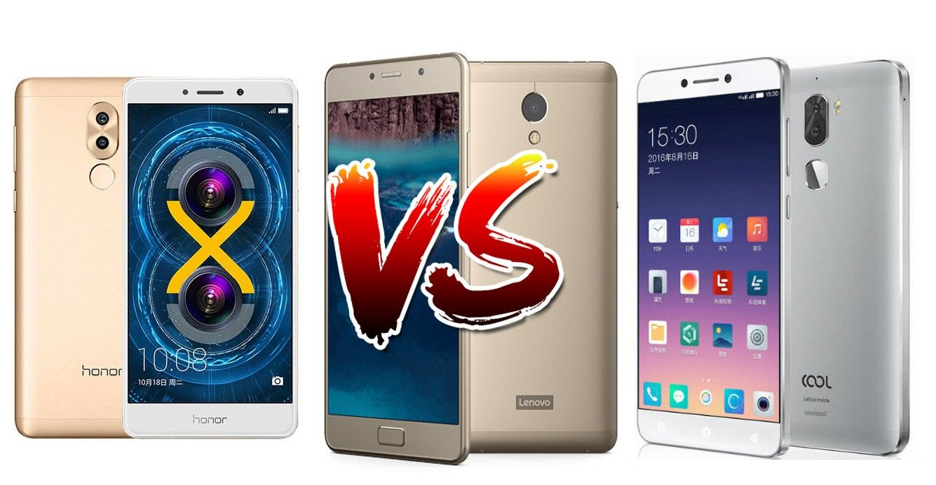 Honor 6X vs Coolpad Cool 1 vs Lenovo P2 Comparison