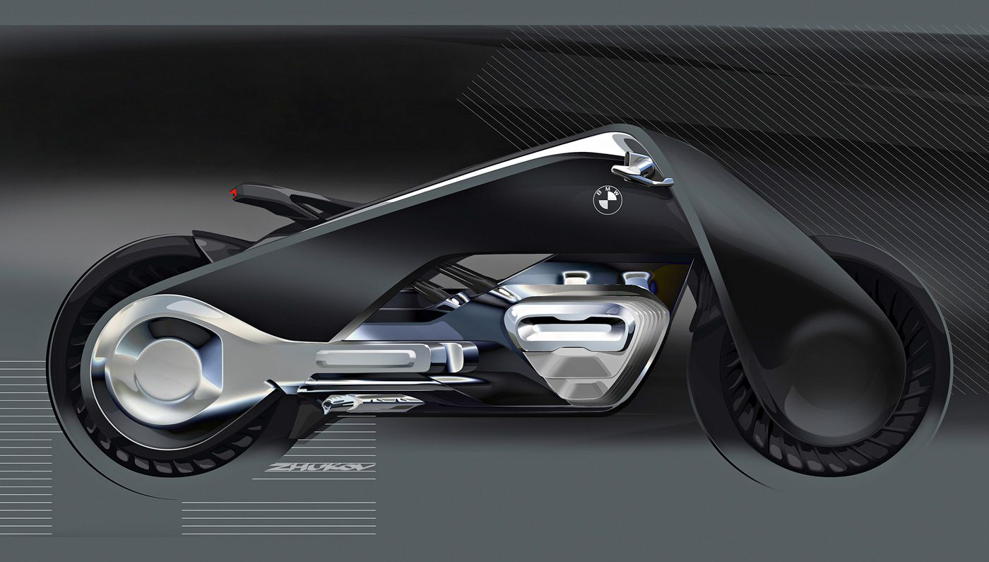 Bmw Motorrad S Vision Next 100 Motorcycle Concept Takes The Long