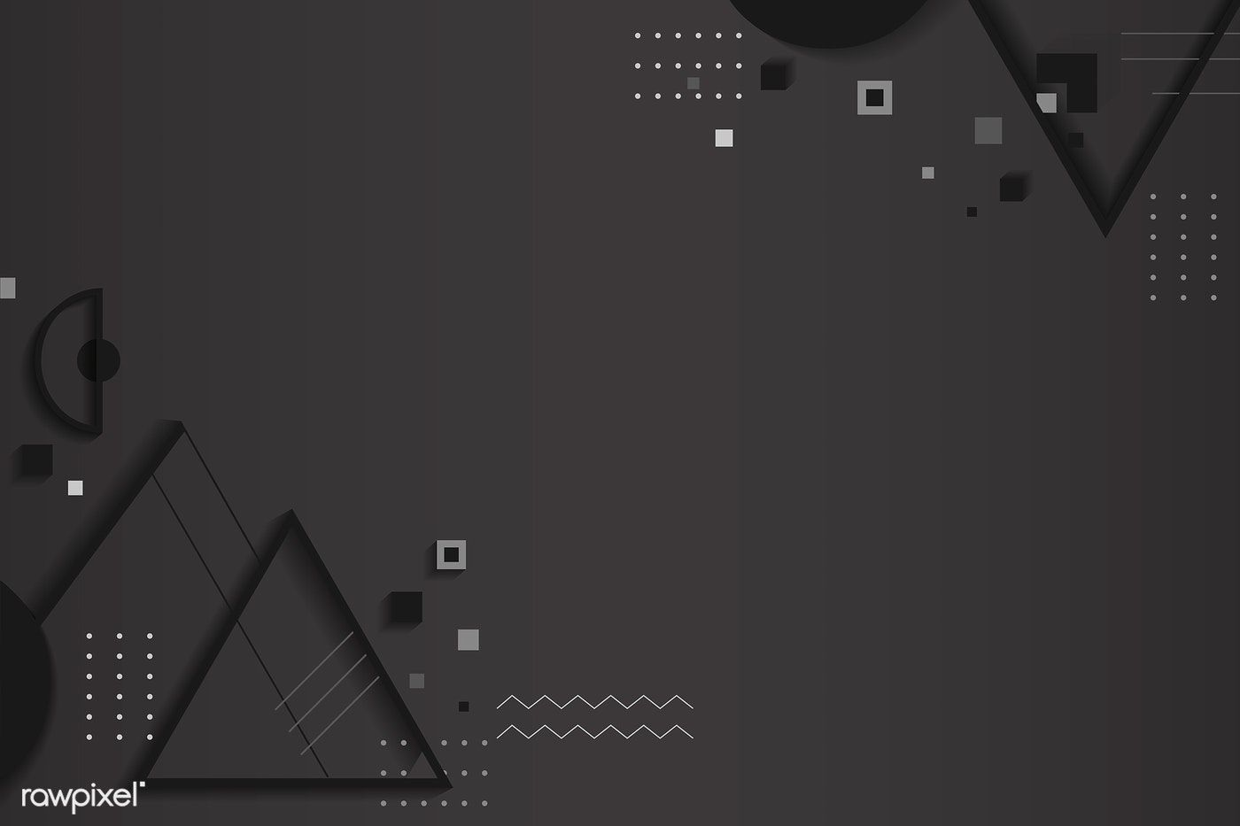 Dark Gray Abstract Geometric Background Vector Free Image By